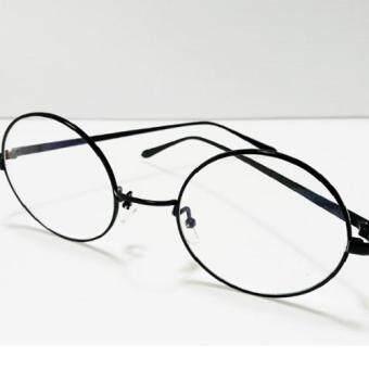 แว่นตาทรงกลมสีดำแฟชั่นกรองแสง