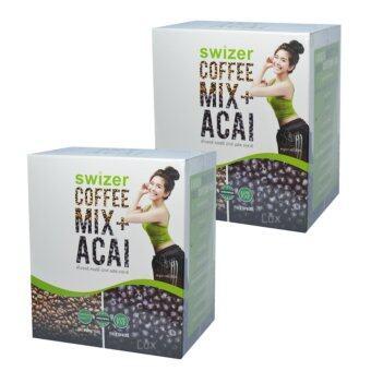 SWIZER COFFEE MIX ACAI BERRYกาแฟเพื่อสุขภาพ สไวเซอร์ คอฟฟี่ มิกซ์ พลัส อาซาอิ เบอร์รี่ จากป่าอเมซอนในบราซิล บรรจุ 10 ซอง (2 กล่อง)