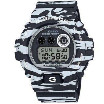 Casio G-Shock นาฬิกาข้อมือผู้ชาย สีขาว/ดำ สายเรซิ่น รุ่น GD-X6900BW-1