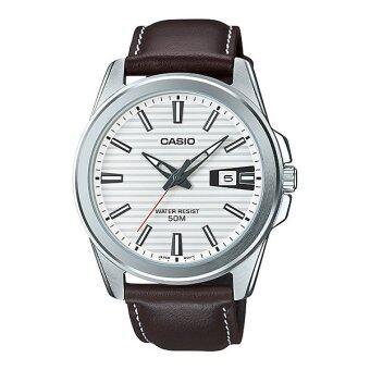 CASIO STANDARD นาฬิกาผู้ชาย สายหนัง รุ่น MTP-E127L-7A