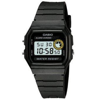 Casio Standard นาฬิกาข้อมือผู้ชาย สีดำ สายเรซิ่น รุ่น F-94WA-8DG