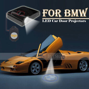 Harga 4Pcs Car Door Projector Welcome Lights for (BMW+Batman) - No Drilling Required - intl