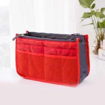 Smartmall กระเป๋าจัดระเบียบของใช้ต่างๆ เหมาะสำหรับพกพา (สีแดง)