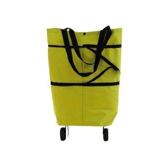 achute กระเป๋าช้อปปิ้ง แบบพับได้ มีล้อลาก 2in 1 ผ้ากันน้ำ (สีเขียว)