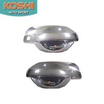 Koshi เบ้ารองมือประตู+ครอบมือจับ Nissan Navara 07-14 ชุบโครเมี่ยม รุ่น 2 ประตู (6 ชิ้น)