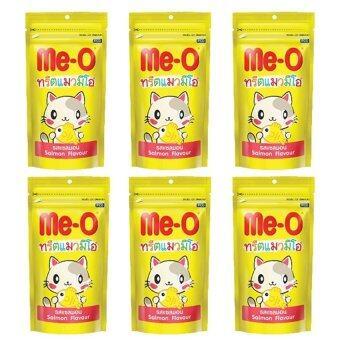 Me-O Salmon Flavour มีโอ ขนมแมวรสปลาแซลมอน 50กรัม x 6ถุง