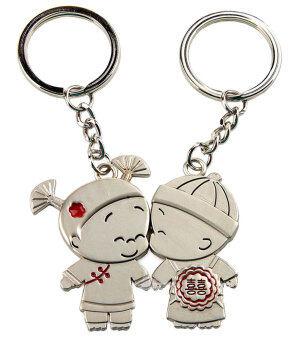 Leegoal จูบสองพวงกุญแจพวงกุญแจน่ารักรักรักพวงกุญแจ