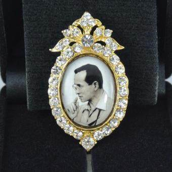 Pearl Jewelry เข็มกลัดในหลวง PK13 งานช่างไทยคุณภาพดี(Gold)