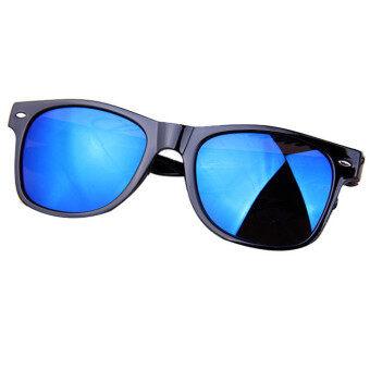 แว่นตาแว่นกันแดดเลนส์กระจกเรโทรกระจกแว่นตากันแดดสีน้ำเงิน