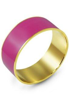 555jewelry กำไลสำหรับ สุภาพสตรี รุ่น FSBG83 ( Gold/Pink )