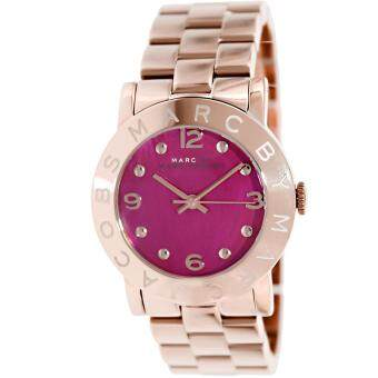 Harga Marc by Marc Women's Amy MBM8625 36mm Pink Stainless-Steel Analog Quartz Watch(Black)