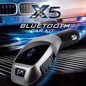 Lilry shop X5 Wireless Bluetooth Car Charger Kit เครื่องเล่นเพลง บลูทูธติดรถยนต์ เขื่อมต่อมือถือกับรถยนต์