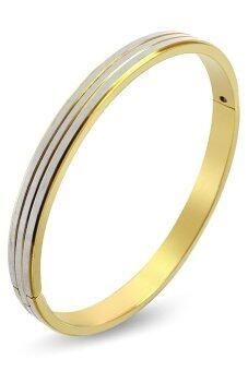 555jewelry กำไลสำหรับสุภาพบุรุษและสุภาพสตรี รุ่น MNC-BG185-B (สีทอง)