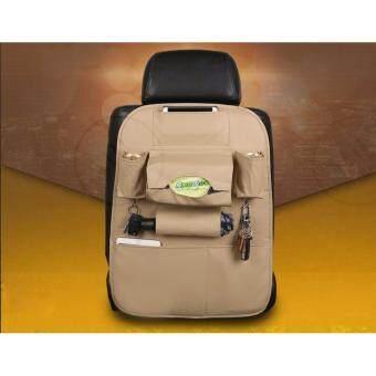 YHL พรีเมียม ที่แขวนใส่ของหลังเบาะรถ ที่ใส่ของในรถเอนกประสงค์กระเป๋าใส่สัมภาระอเนกประสงค์ด้านหลังเบาะ ที่แขวนใส่ของอเนกประสงค์หลังเบาะรถยนต์ (สีครีม)