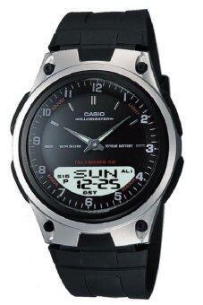 Casio Standard นาฬิกาข้อมือผู้ชาย สีดำ สายเรซิ่น รุ่น AW-80-1A