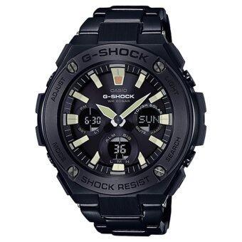 CASIO G-SHOCK รุ่น GST-S130BD-1ADR (CMG) นาฬิกาข้อมือ สายสแตนเลส สีดำ G-Steel