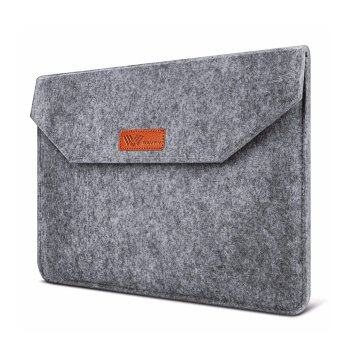 SAVFY กระเป๋าใส่โน็ตบุ๊ค สำหรับ MacBook Air/ Retina 15.6 นิ้ว Macbook Pro/ นิ้ว iPad Pro Ultrabook Netbook (สีเทา)