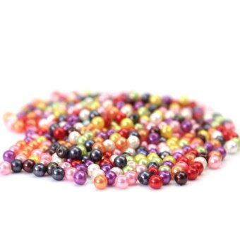 Harga BU 500pcs Mixed Colour Round Glass Pearl Loose Beads 4mm Spacer Fit Jewelry Craft - intl