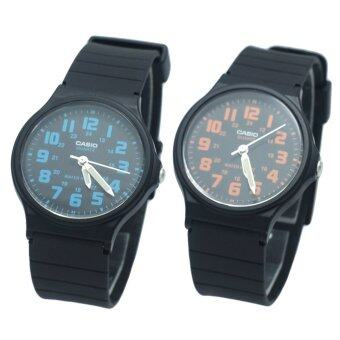 Casio Standard นาฬิกาข้อมือ ชาย/หญิง สายเรซิน รุ่น MQ-71-2B และ MQ-71-4B สีฟ้า/สีส้ม