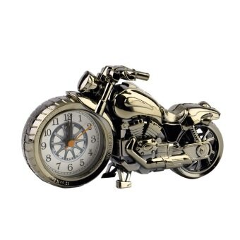 นาฬิกาปลุกรูปมอเตอร์ไซด์อะนาล็อคสำหรับตั้งโต๊ะแฟชั่น 1 เรือน