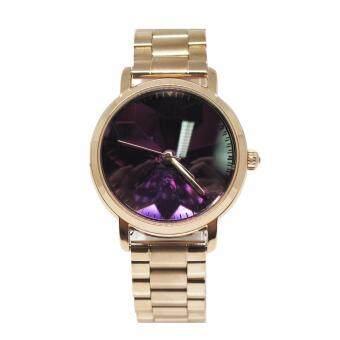 Mashali นาฬิกาข้อมือแบรนด์แท้ รุ่น M-5260-rosegold-purple