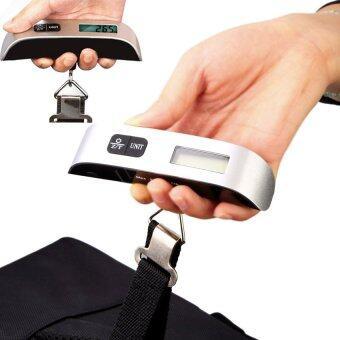 Sinlin เครื่องชั่งน้ำหนัก เครื่องชั่งกระเป๋า ดิจิตอล แบบพกพา Electronic LCD Luggage Scale 50 Kg/10g (Black)