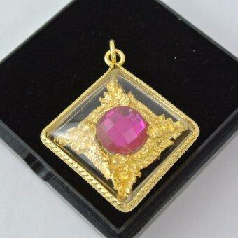 Pearl Jewelry จี้บ่วงนาคบากท์ พญานาคทอง ล้อมเพชรสี PD06