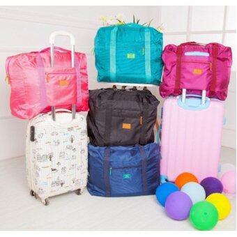 TravelGear24 กระเป๋าเดินทางแบบพับได้ (Blue-Green/สีฟ้าเขียวน้ำทะเล) ล็อกกับกระเป๋าเดินทางได้ Travel Foldable Bag (image 1)