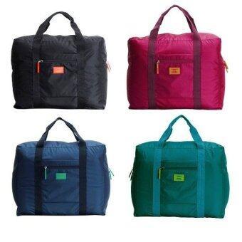TravelGear24 กระเป๋าเดินทางแบบพับได้ (Blue-Green/สีฟ้าเขียวน้ำทะเล) ล็อกกับกระเป๋าเดินทางได้ Travel Foldable Bag (image 4)