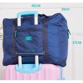 TravelGear24 กระเป๋าเดินทางแบบพับได้ (Blue-Green/สีฟ้าเขียวน้ำทะเล) ล็อกกับกระเป๋าเดินทางได้ Travel Foldable Bag (image 3)