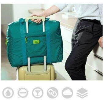 TravelGear24 กระเป๋าเดินทางแบบพับได้ (Blue-Green/สีฟ้าเขียวน้ำทะเล) ล็อกกับกระเป๋าเดินทางได้ Travel Foldable Bag (image 2)