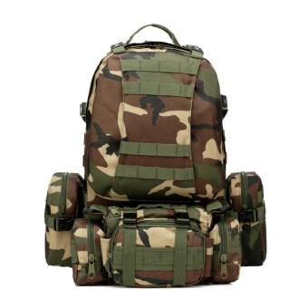 good dee กระเป๋าสะพายเดินทางจัมโบ้ ชุด 4 in 1 (สีขียวลายพราง)