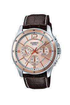 Casio Standard นาฬิกาผู้ชาย สายหนัง รุ่น MTP-1374L-9A - Brown