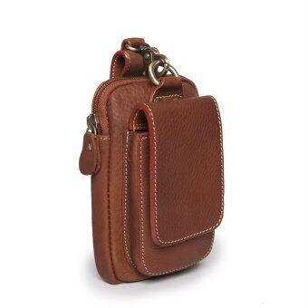 SN Collection กระเป๋าร้อยเข็มขัด กระเป๋าคาดเอวใส่โทรศัพท์ หนังแท้ รุ่น ME01A02