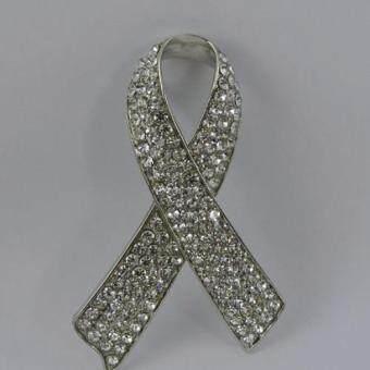 Pearl Jewelry เข็มกลัดไว้อาลัย โบว์เพชร PIN09