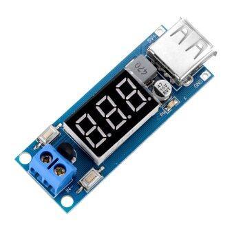 ชาร์จ usb แบบ DC-DC ก้าวลงดีซีโวลต์มิเตอร์บั๊กตัวแปลง 4.5.., 40โวลต์กับ 5โวลต์/2 amps TE533-SZ
