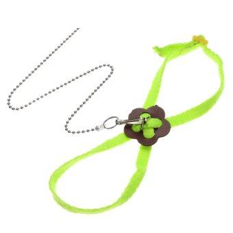 Harga Adjustable Ferret Harness Baby Animal Rabbit Hamster Rat Mouse Leash Lead Bell Green - Intl