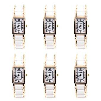 King girl ขายส่ง นาฬิกาข้อมือผู้หญิง รุ่น WP8150 (White/ Rose Gold) 1 แพ็ค ( 6 ชิ้น )