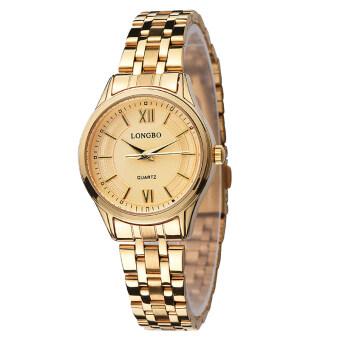 แฟชั่น LONGBO สเตนเลสธรรมดาสองสายนาฬิกานาฬิกาข้อมือนาฬิกาควอทซ์สบายหรูหรา 80231