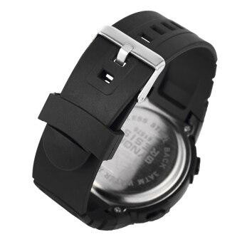 SYNOKE ใหญ่หมุน 5ATM กันน้ำพวกกีฬานาฬิกาหลายฟังก์ชันโครโนกราฟนับถอยหลังคืนไฟนาฬิกาเตือนนักเรียน