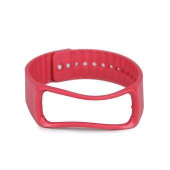 แทนสำหรับ Samsung Galaxy Gear Fit สายรัดข้อมือสายรัดข้อมือสายนาฬิกาอัจฉริยะสีแดง