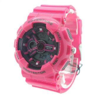 Submariner นาฬิกาข้อมือผู้หญิงและเด็ก สายยาง 2 ระบบ (เข็มและDigital) - SS20020 (Pink)