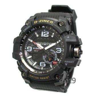 D-ZINER นาฬิกาข้อมือผู้ชาย สายซิลิโคน รุ่นDZ-8143 (ดำ)