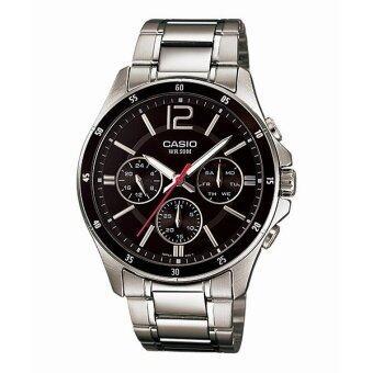 Casio Standard นาฬิกาข้อมือผู้ชาย สายแสตนเลส รุ่น MTP-1374D-1AV - Black