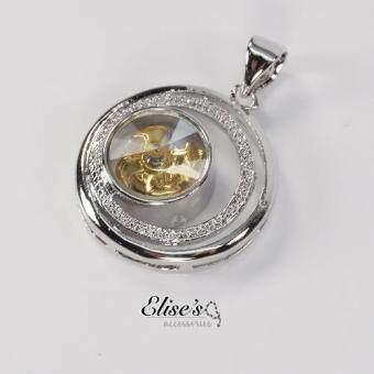 Elise's จี้กังหันโชคดี แชกงหมิว เคลือบทองคำขาว รุ่น EHK-022