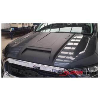 SA ช่องลมหลอกฝากระโปรงหน้า (แบบยาว) สีดำด้าน(Scoop Cover) / Ford Ranger 2015 (V.5)