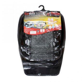 ถาดรองพื้นภายในรถยนต์ป้องกันสิ่งสกปรกวัสดุ PVC ชุด 5 ชิ้น (สีดำ)