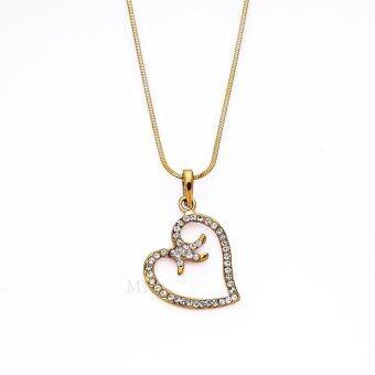 MONO Jewelry สร้อยคอเกลียวจากเศษทองจี้หัวใจ รุ่นน้ำหนัก ๑ บาท