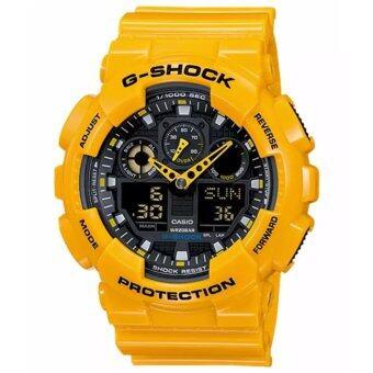 Casio G-Shock นาฬิกาข้อมือรุ่น GA-100A-9ADR - ประกัน CMG