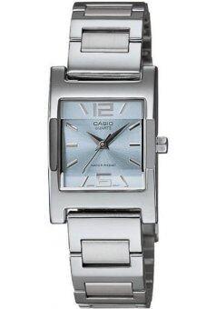 Casio Standard นาฬิกาข้อมือผู้หญิง สายสแตนเลส รุ่น LTP-1283D-2ADF - สีเงิน/ฟ้า